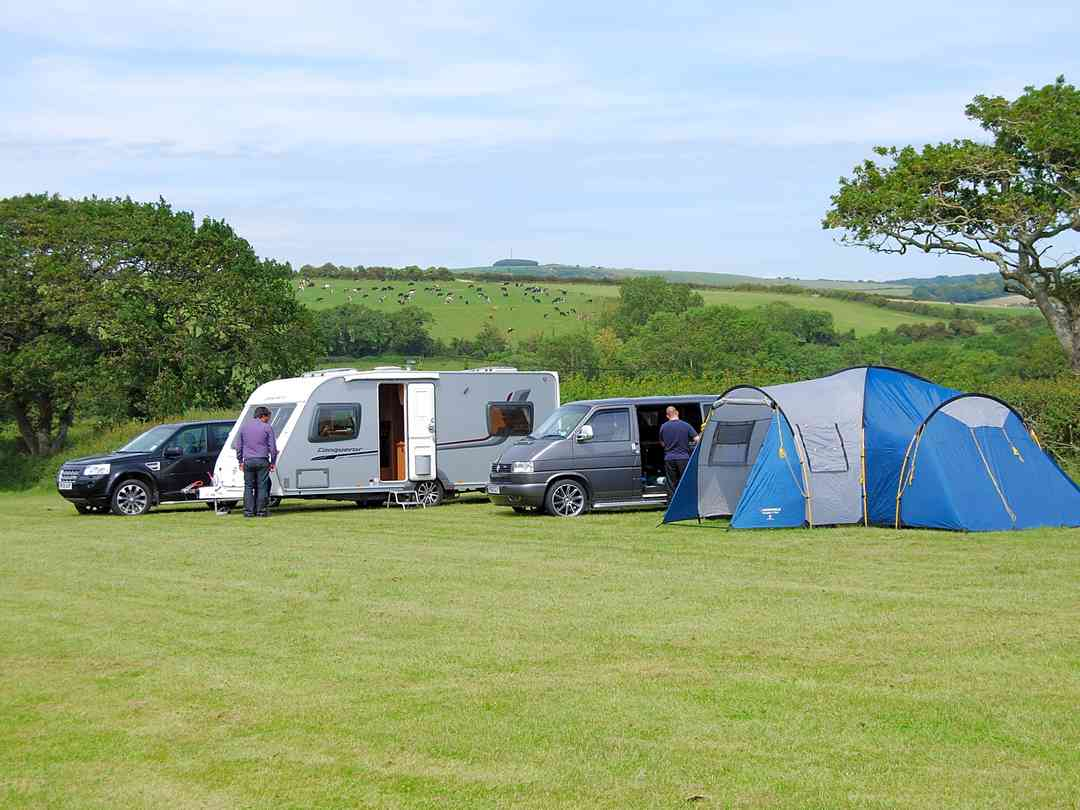 Pitched up on site