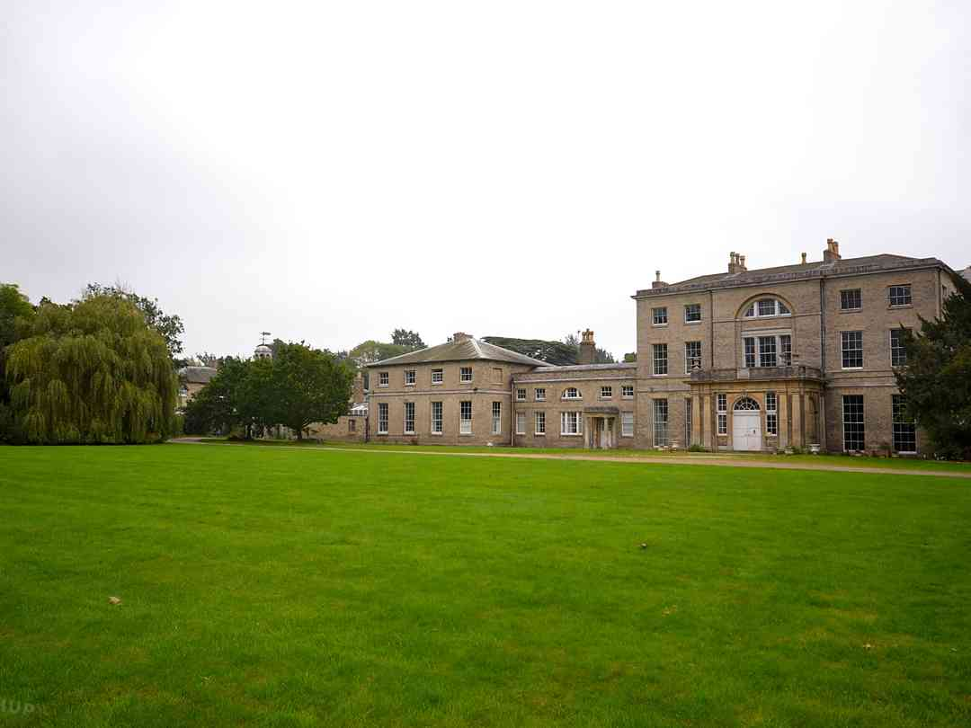 Glevering Estate: A view of the Hall situated behind the caravan site
