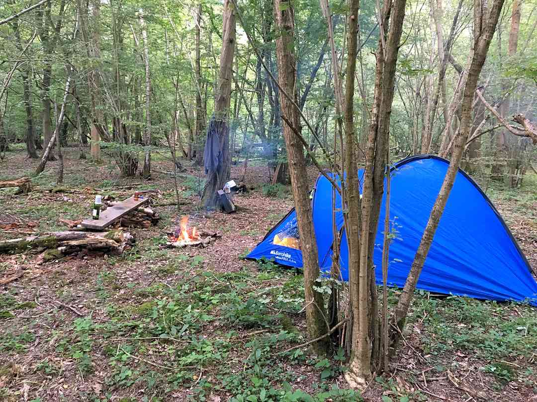 Woodsman Kent Wild Camping: All set!