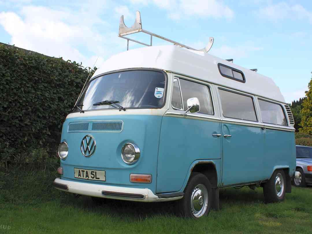 A VW camper on paddock two