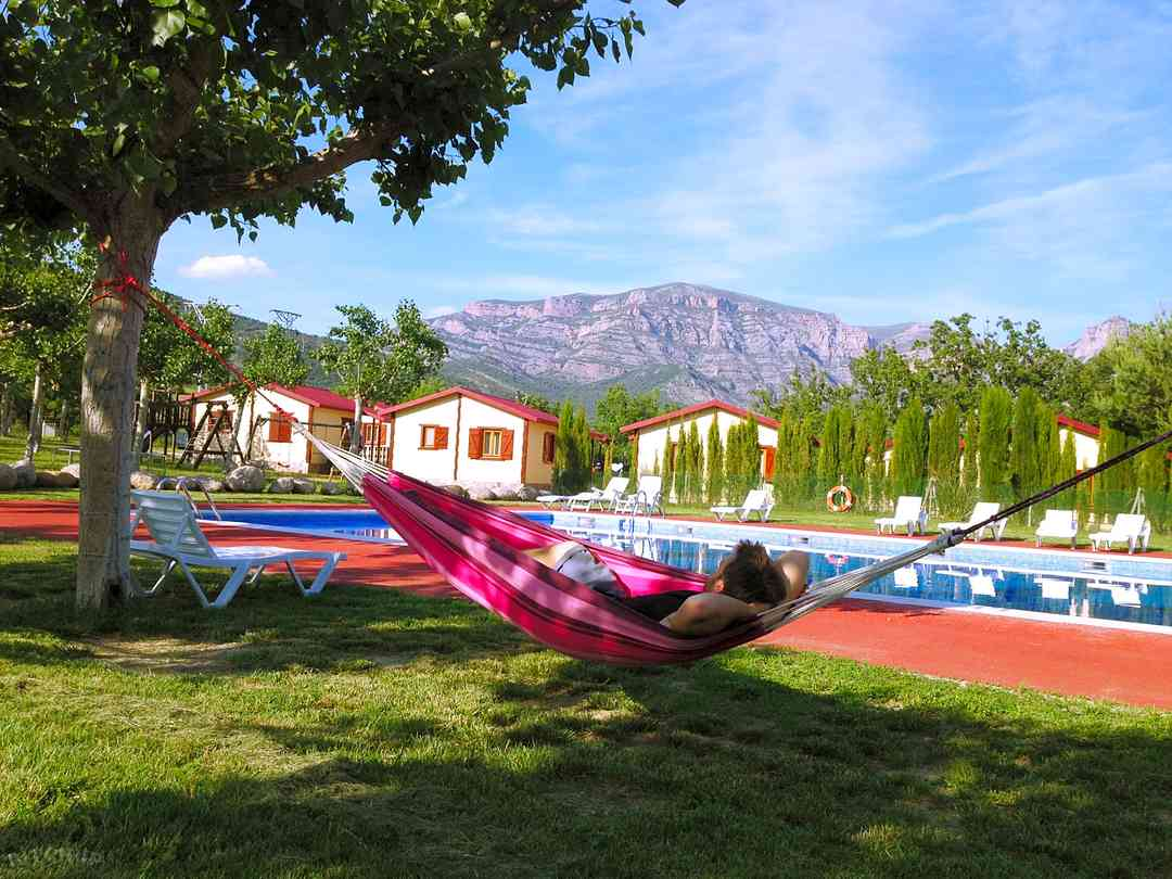 Camping Bungalowpark Isábena: Time for a well-deserved siesta after all that swimming