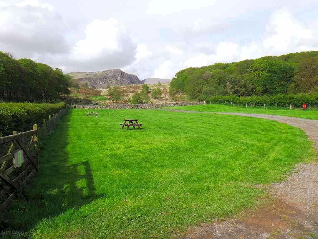 Church Stile Farm Holiday Park: Grass area for tents: flat land with ample space for parking next to your tent