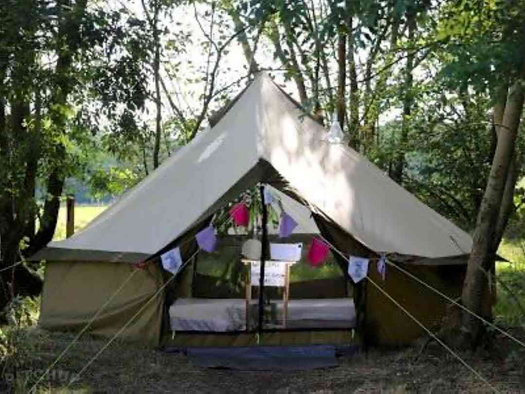 Brook Farm Glamping and Camping: Surrounded by greenery