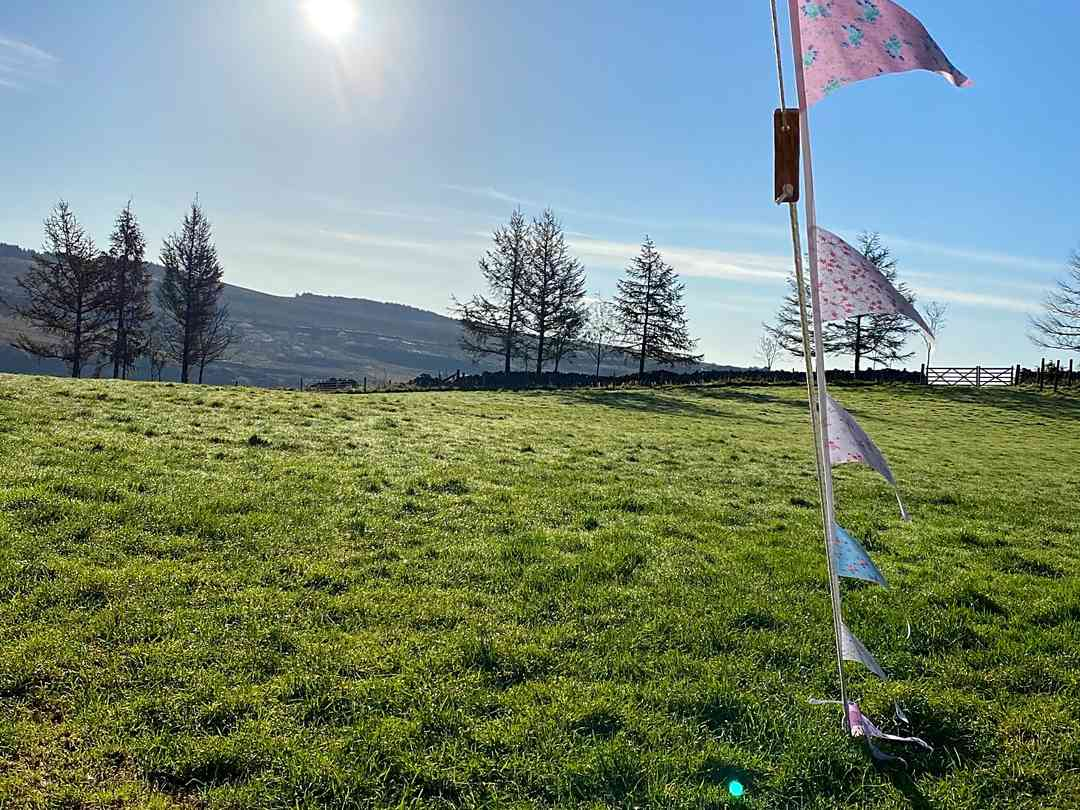 Cae Glas Camping: View from the bell tent