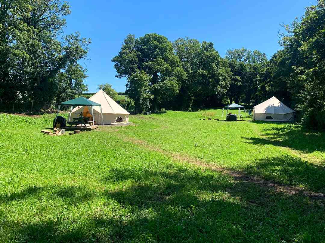 Ritec Valley Glamping: View of the field