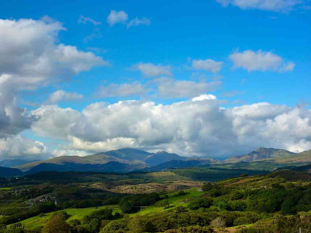 The Moelwyn mountains - a view from at the hill above the campsite