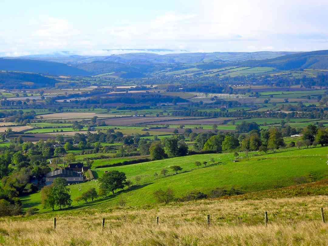 The Nipstone Campsite: A view from the Stiperstones hills