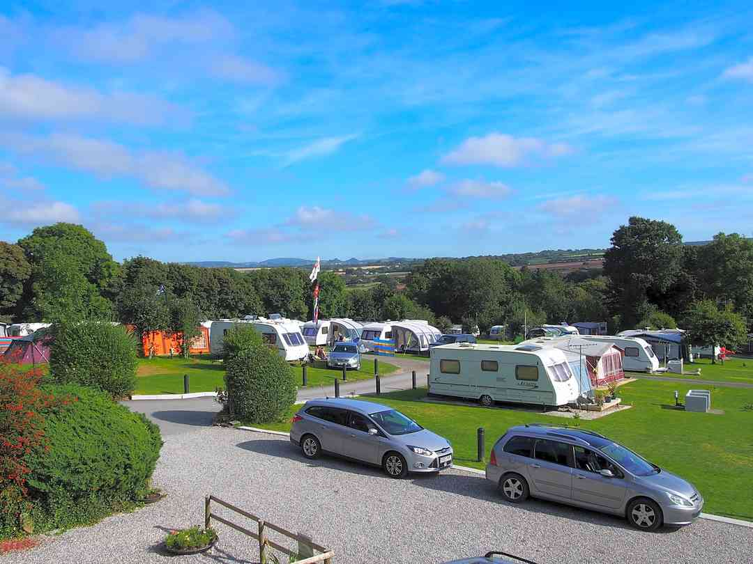 Camping and touring pitches
