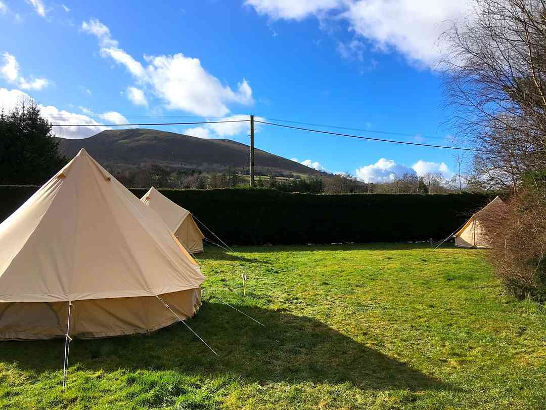 The Old School Campsite: The glamping field