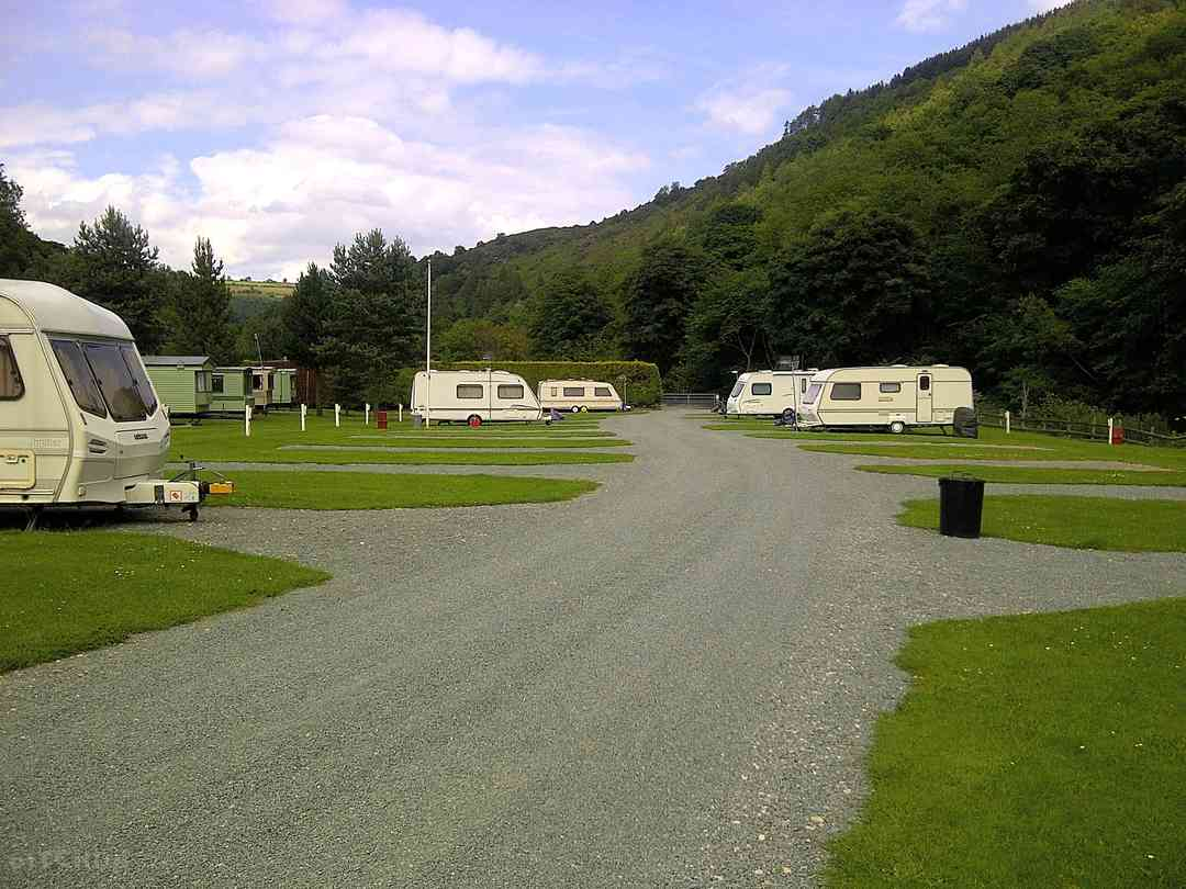 Ceiriog Valley Park: Hardstanding touring pitches