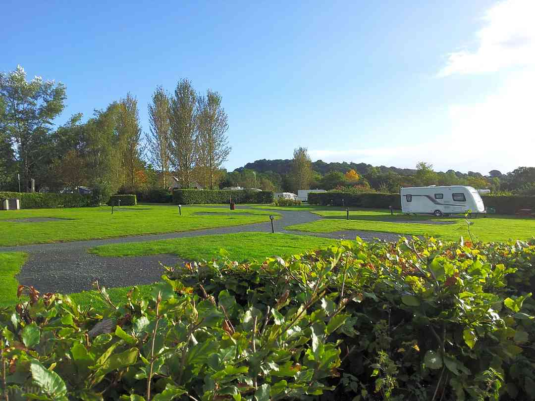 Spacious caravan pitches and lovely surroundings