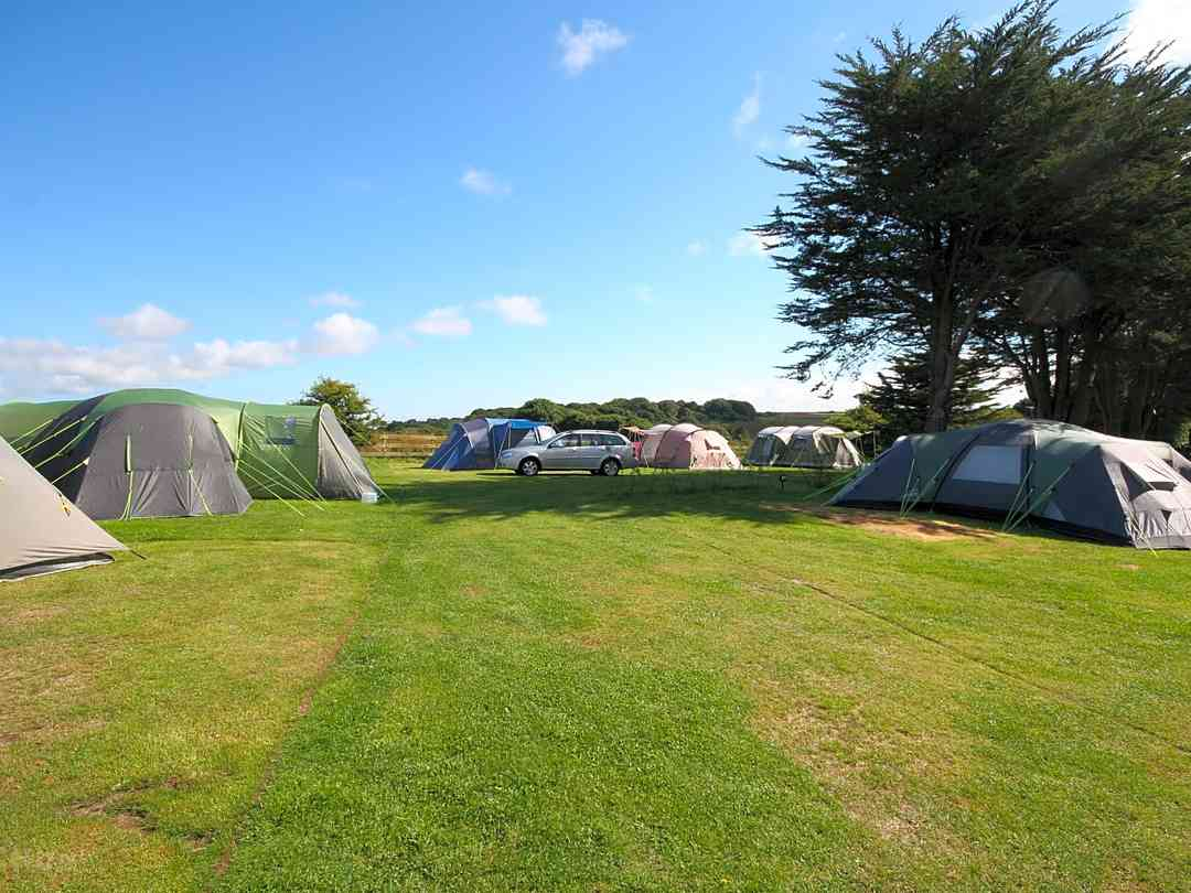 tent camping in hayle in cornwall