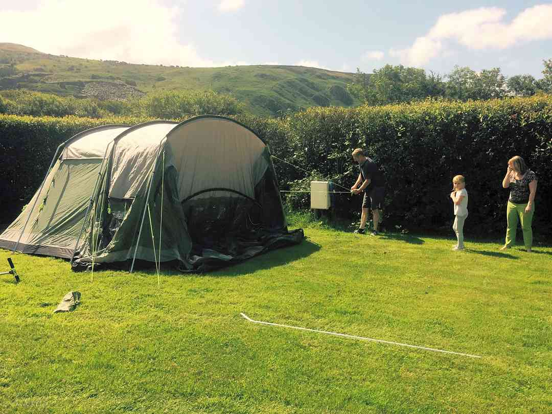 Secluded pitches