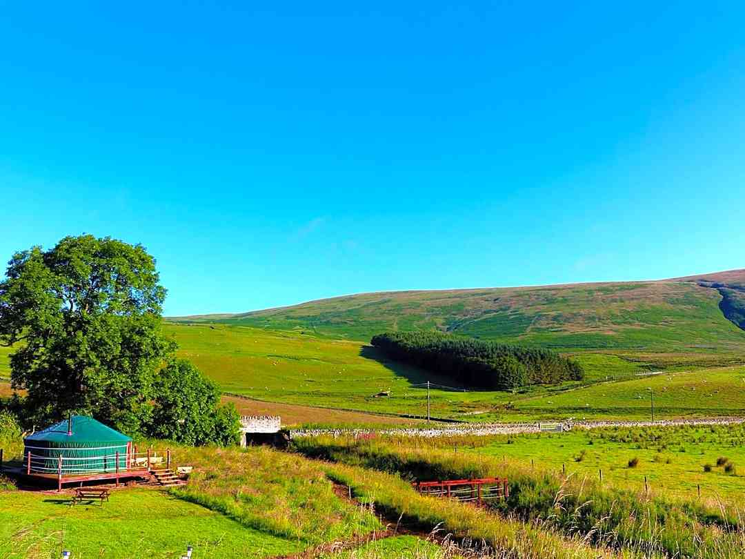 Ettrick Valley Yurts: Beautiful views