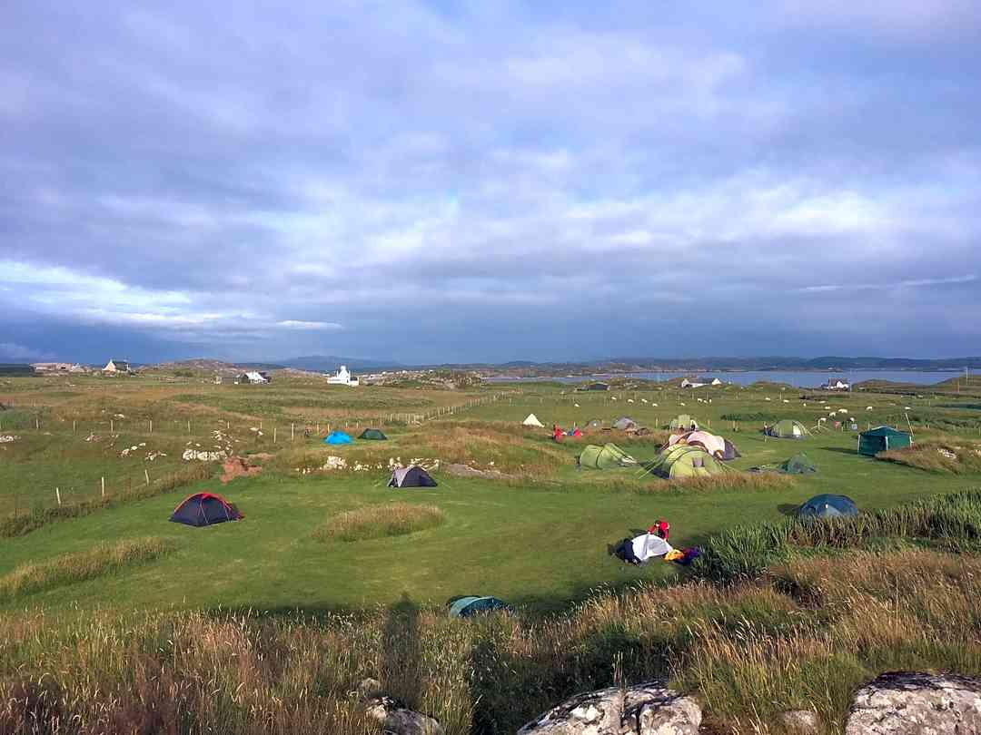 Isle Of Iona Campsite: View over the pitches