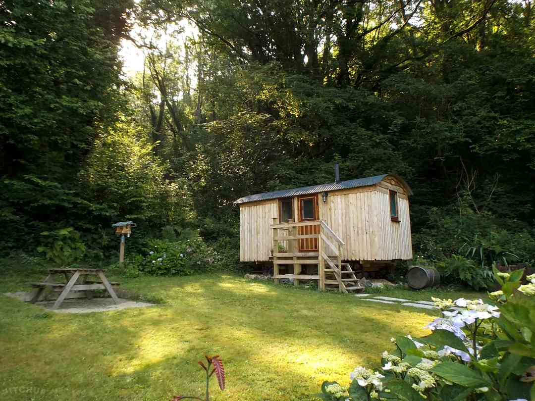 Morris is the only shepherd's hut in its own secluded garden