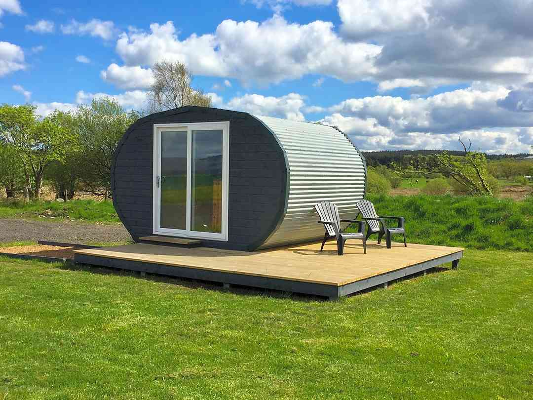 Eco-pod office and shop