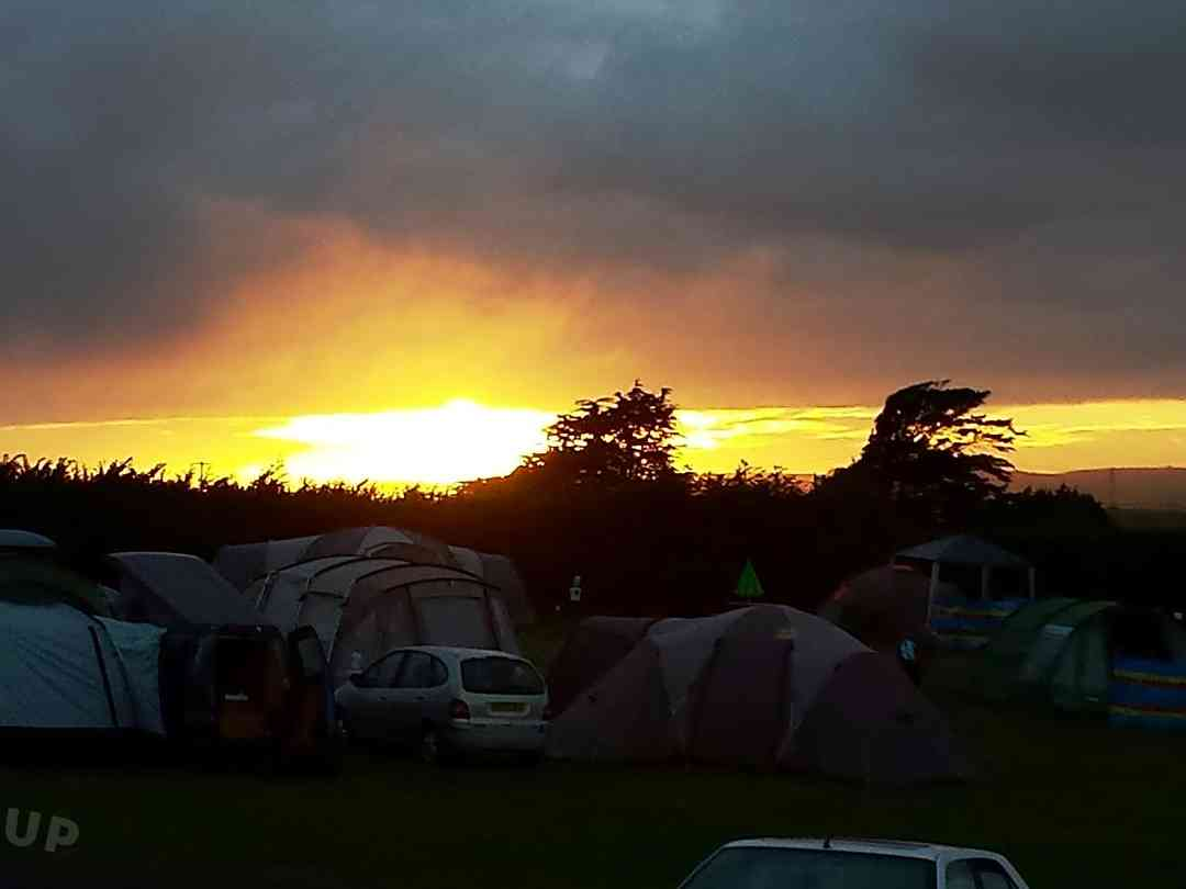 Sunset over the campsite