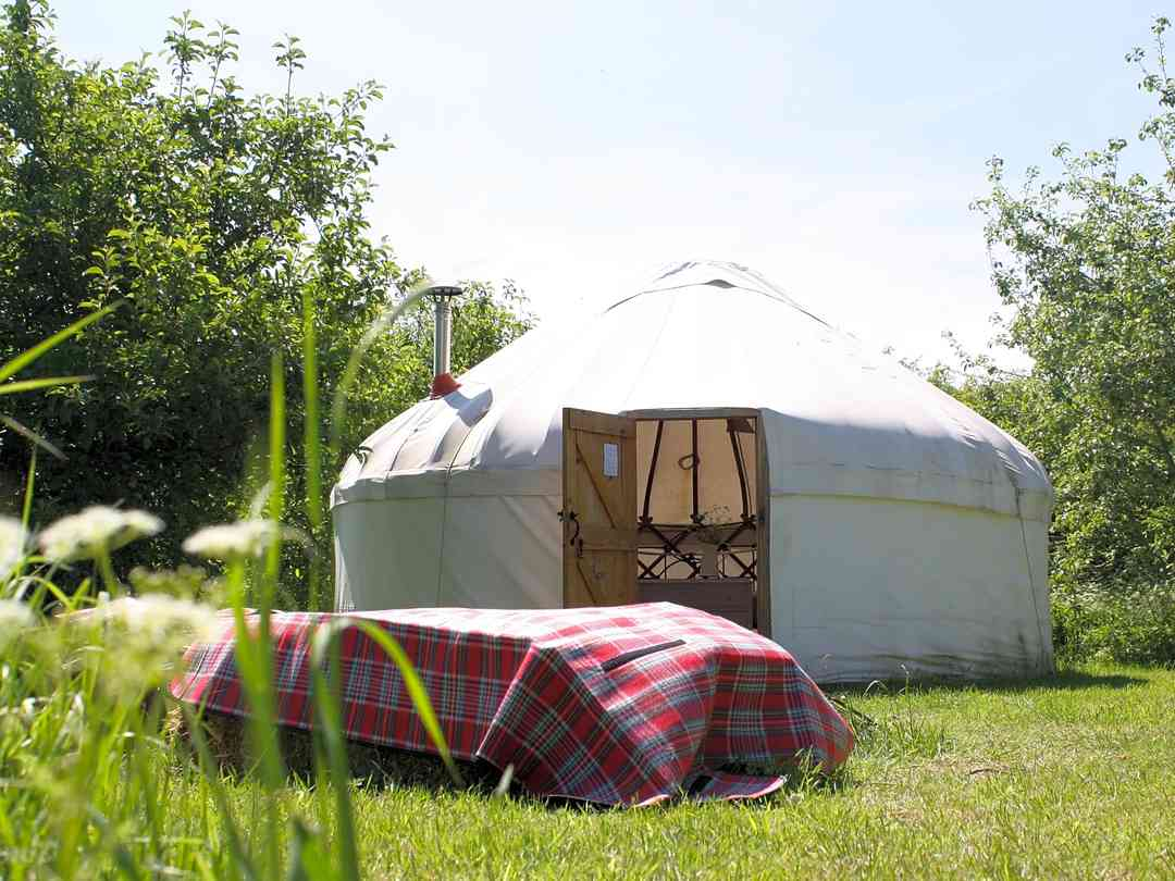 Fen End Farm: The five-metre-wide yurt was handcrafted on the farm from a mixture of ash and oak