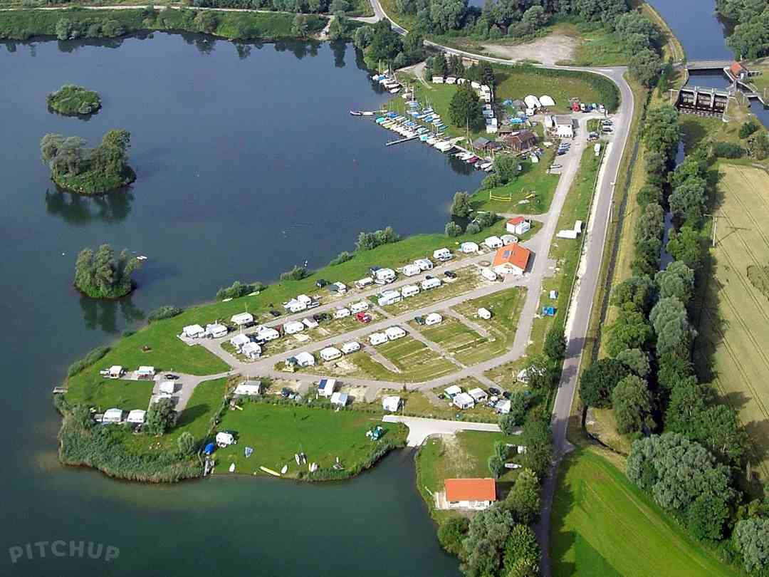 See Camping Günztal: Aerial view of the campsite
