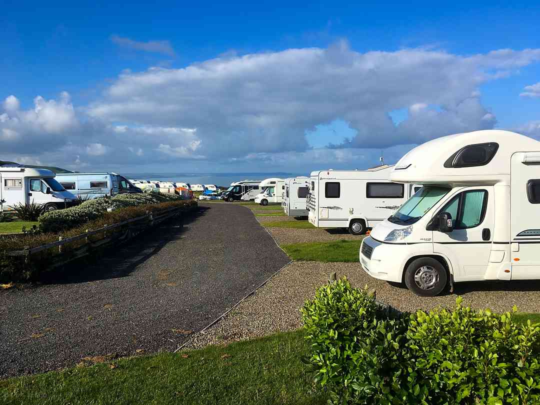 Front row motorhome pitches