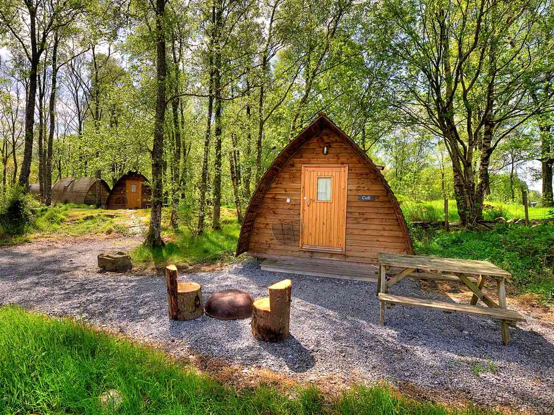 Loch Tay Highland Lodges: Standard heated wigwam for up to five people