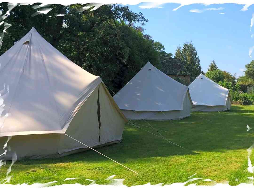 Dorset Glamping Fields: Bell tents with plenty of space in our 8-acre field for privacy and Covid safety
