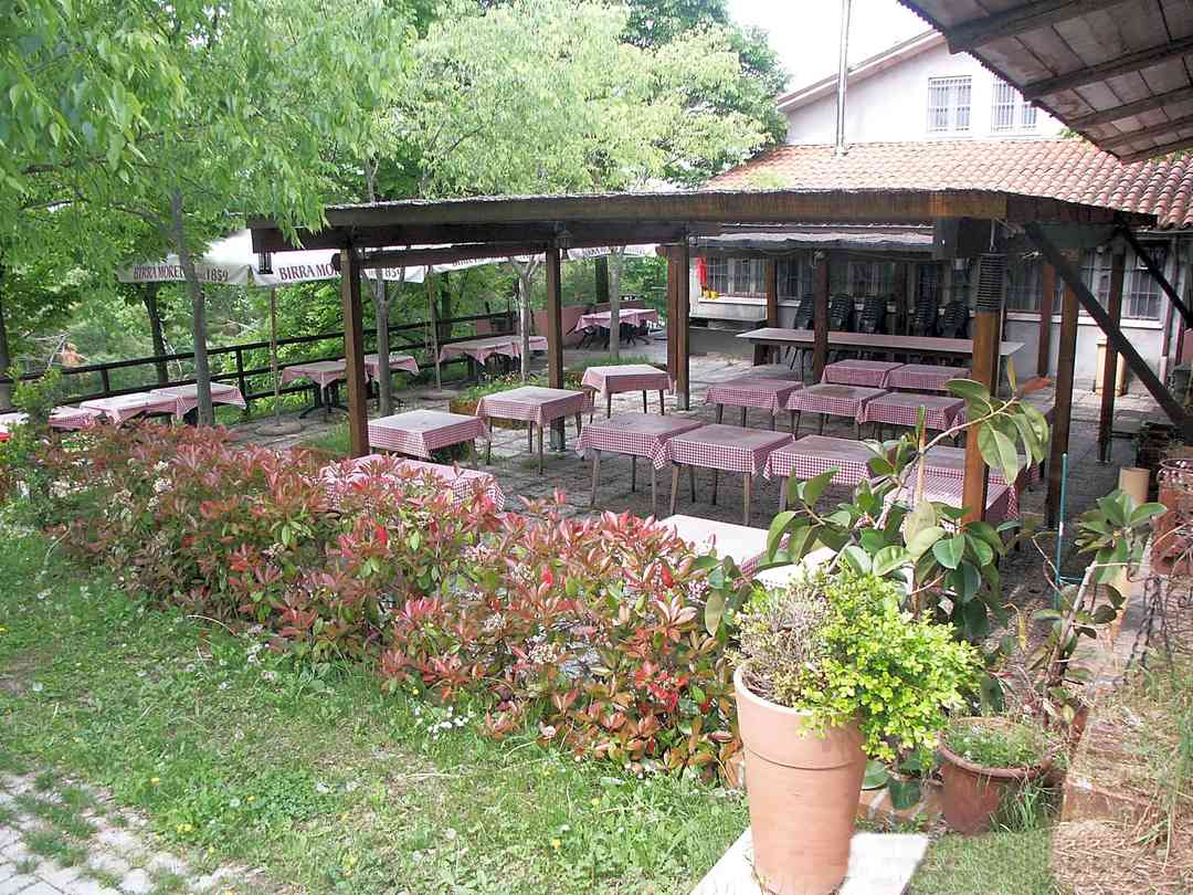 The restaurant and outdoor terrace