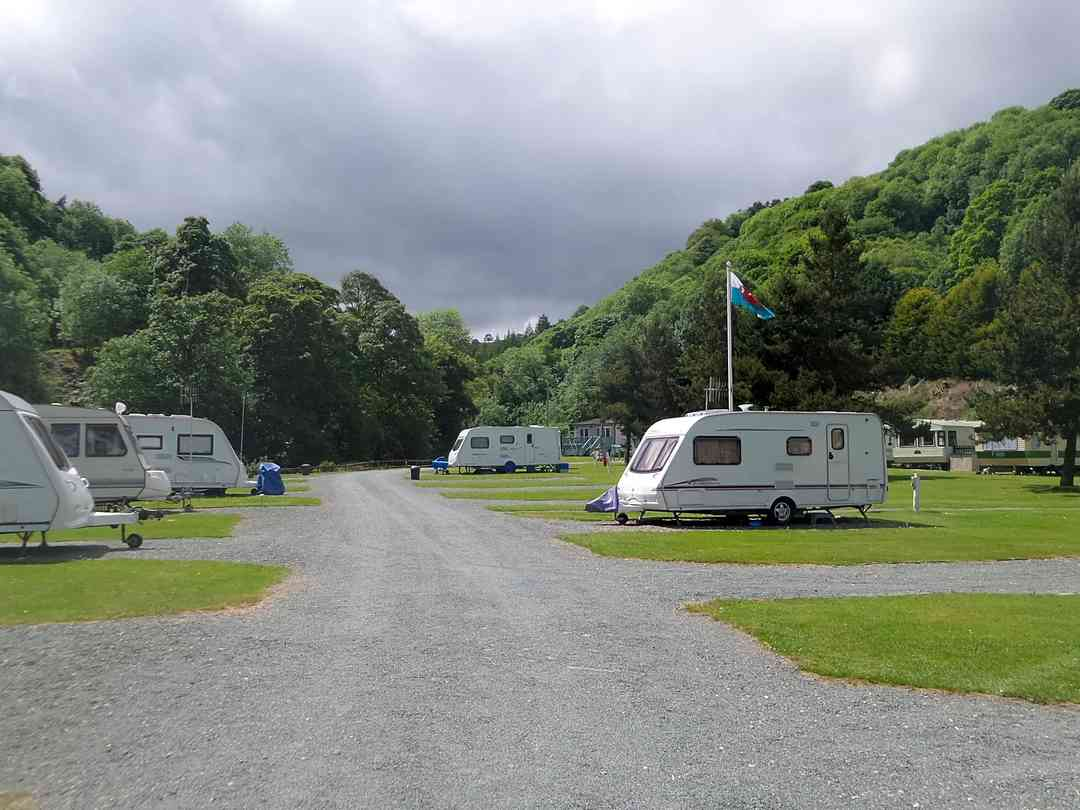 Ceiriog Valley Park: View of the touring pitches
