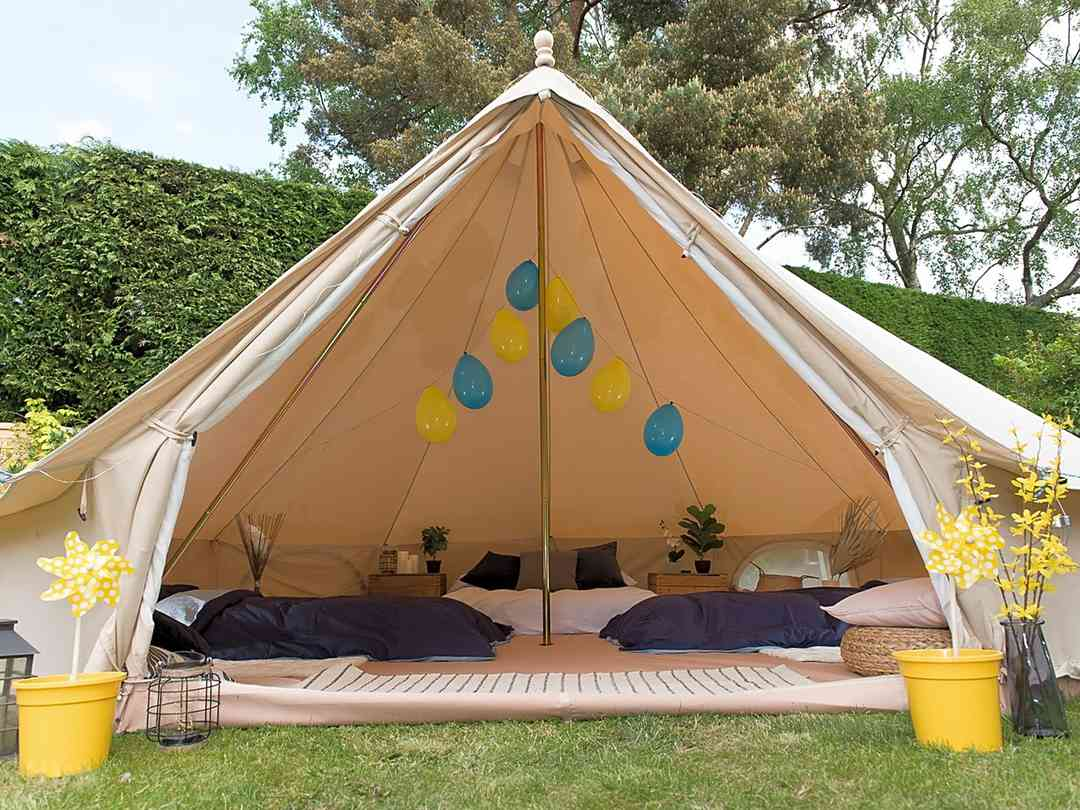 Glamping at Rake Meadows: Sleepover tent for up to six people