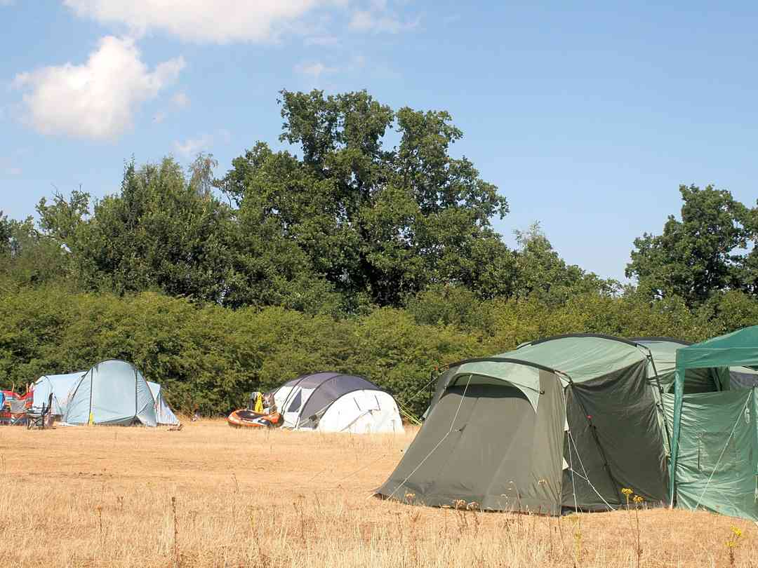 camping in east anglia with own tent