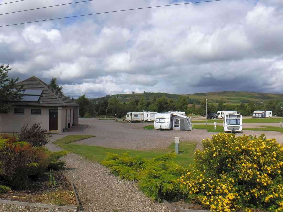 Shower block and fully serviced pitches