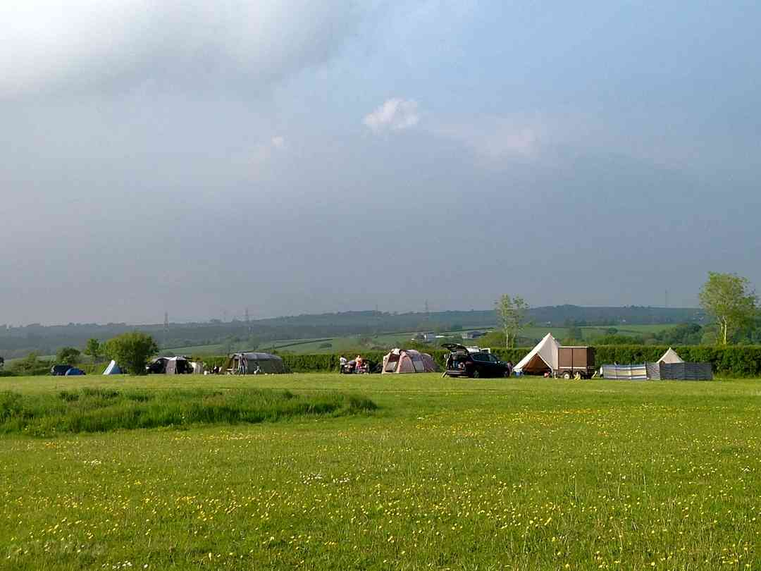 Ryelands Holiday Park: North view from the pitching field