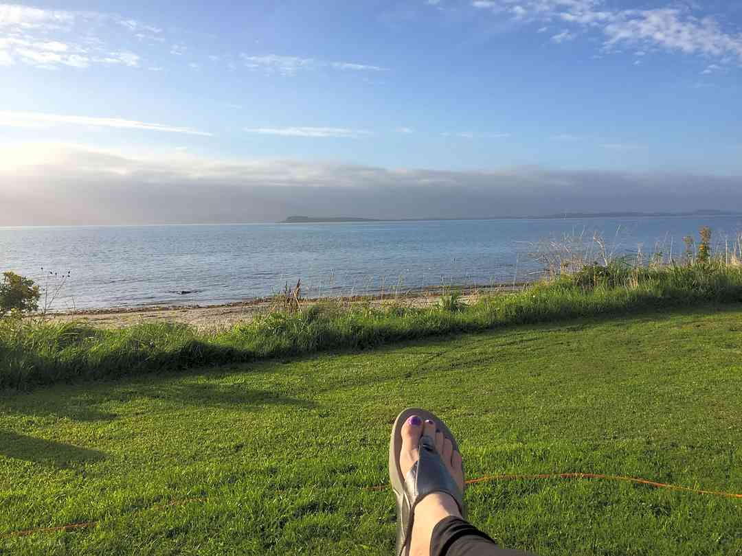Muasdale Holiday Park: View Cara and Gigha
