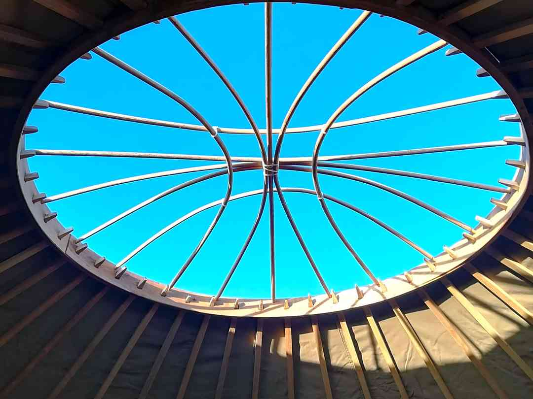 Looe Yurts: View to the sky