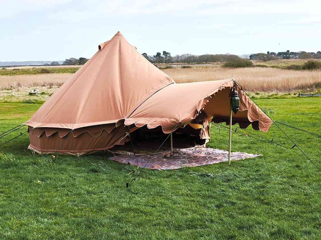 MAJU Glampsite at Hartgrove Hill Farm: Bell tents