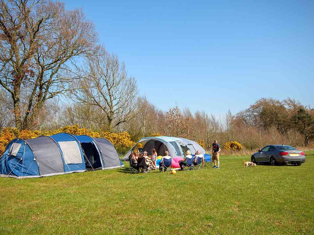 Large group of tents on Easter weekend