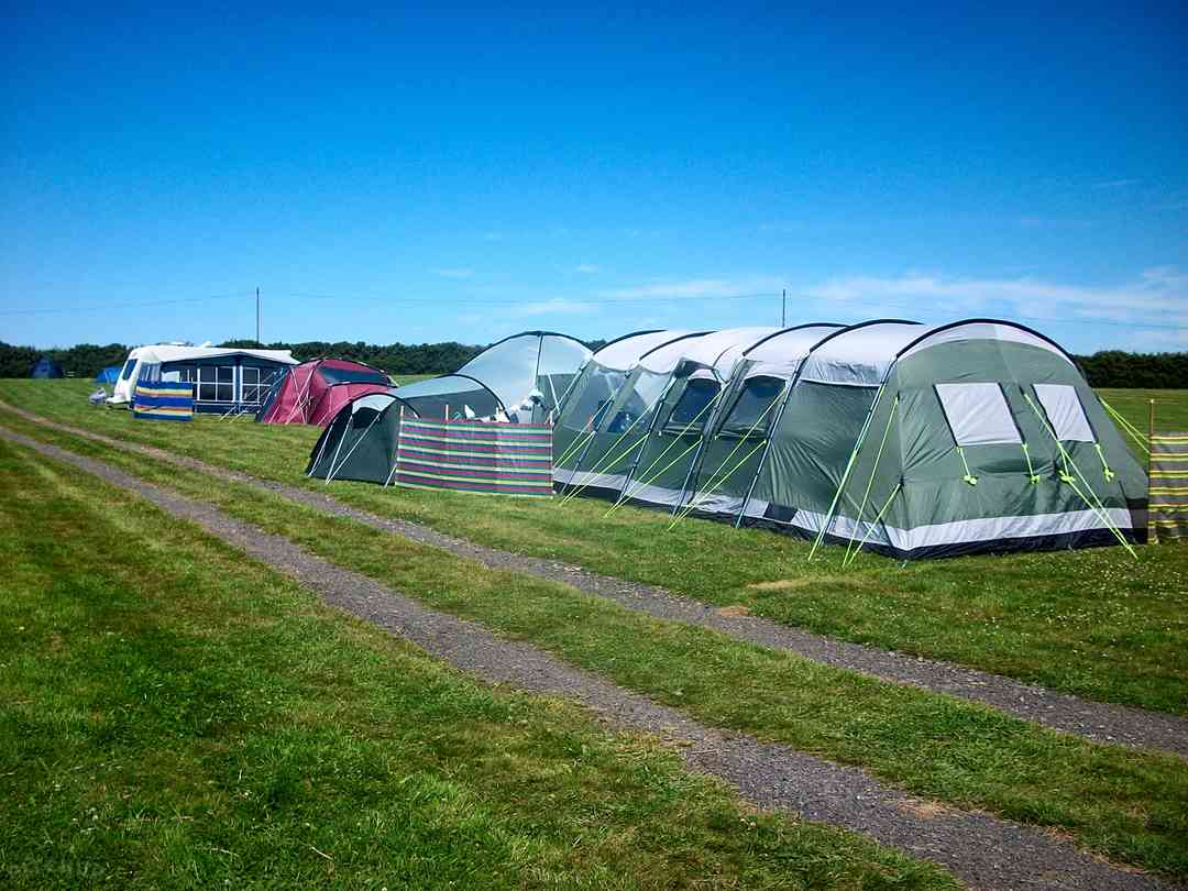 Lee Meadow Farm: Massive area for extra-large tents