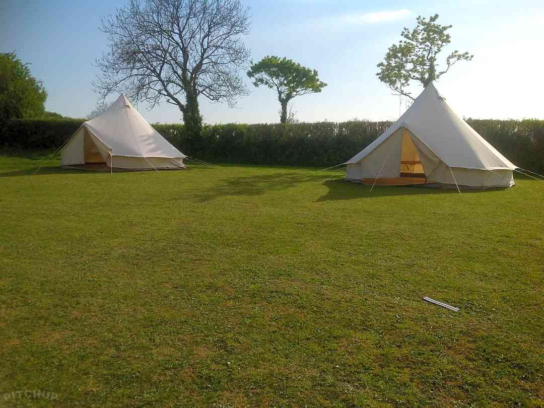 Ryelands Holiday Park: Glamping in a five-metre bell tent
