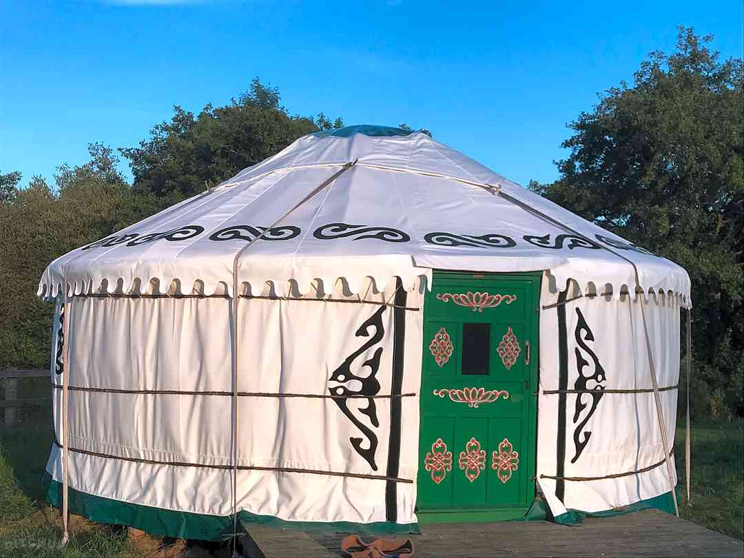 Pilsdon View Camping: Five-metre yurt