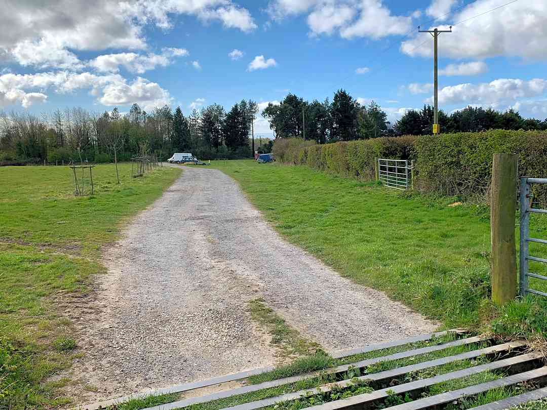 Coed Hills Campsite: The entrance and car park