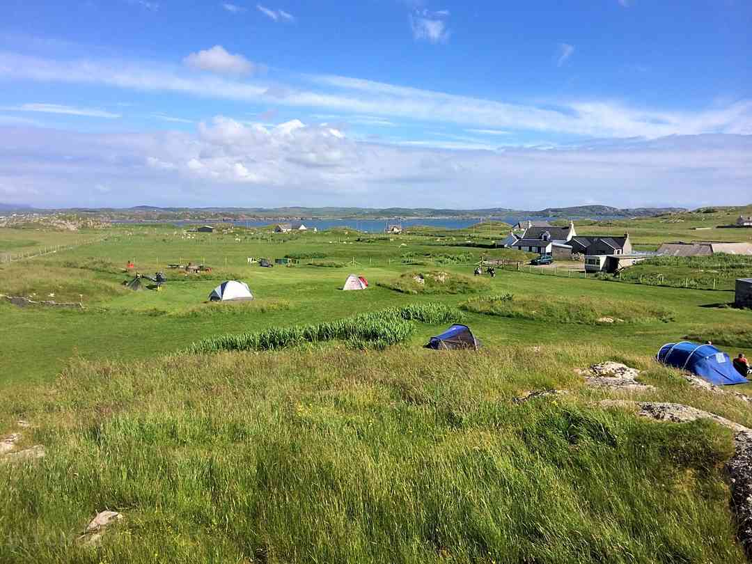 Isle Of Iona Campsite: View over the pitches field