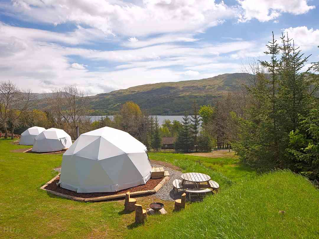 Our gorgeous domes all have loch views