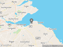 Location of Aberlady Caravan Park