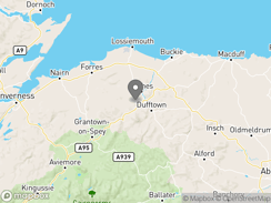 Location of Speyside By Craigellachie Camping and Caravanning Club Site