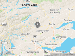 Location of Braidhaugh Holiday Park