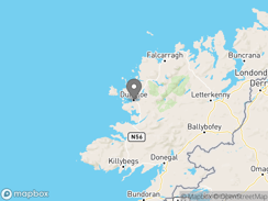 Location of Dungloe Touring Caravan Park