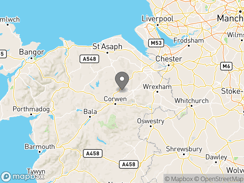 Location of Clwydian Wigwams and Campsite