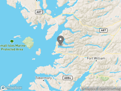 Location of the-wee-lodge-on-loch-morar