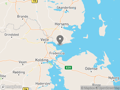Location of Rosenvold Strand Camping